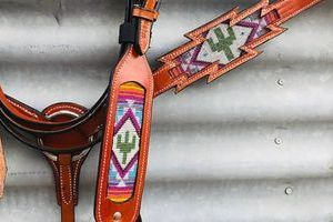 Cacti Bridle andamp Breastplate Set Western Bridle