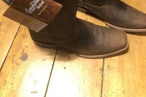 Fire & Fearless, ironbark. Brown Leather Pull On Work Boot size 10 D