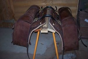 Horse Pack saddle, complete with Leather bags and pack harness